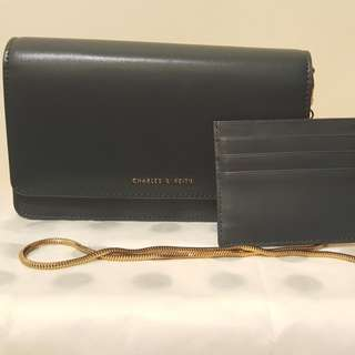 (Sales)Charles & Keith Long Wallet/ Handbag/Clutch; (減價)Charles And Keith 多用途小手袋/包包