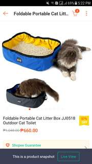 CAT LITTER BOX (FOLDABLE)