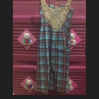 Mini Dress Santai Biru