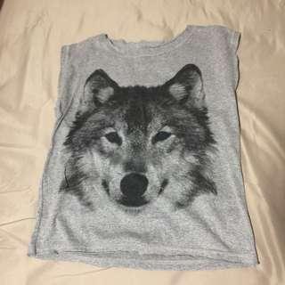grey wolf muscle tank