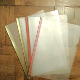 Clear plastic files