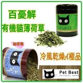🐱《Pet Best》百憂解 有機貓薄荷草 有機栽培 CatMint  鐵罐裝