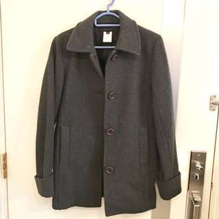 B+ab Grey Wool Winter Coat (M)