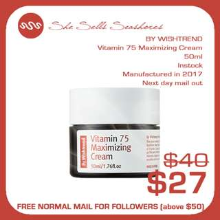 BY WISHTREND | Vitamin 75 Maximizing Cream 50ml AUTHENTIC INSTOCK