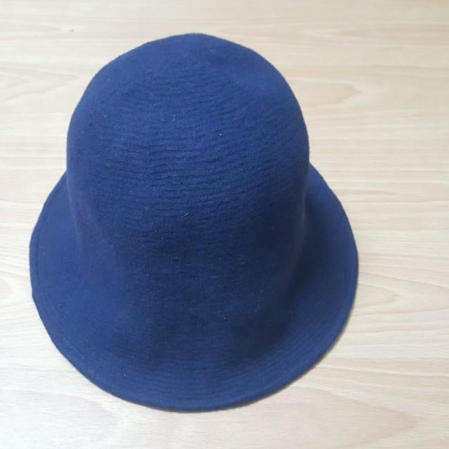 正韓.韓製.80%wool.羊毛帽.漁夫帽.藏藍色.藏青色.深藍色圓帽
