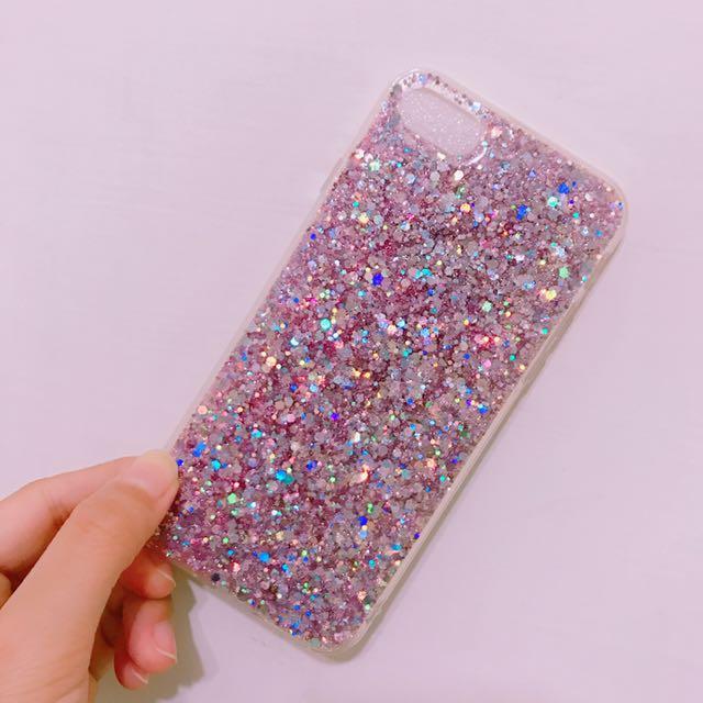 全新✨粉色亮晶晶手機殼