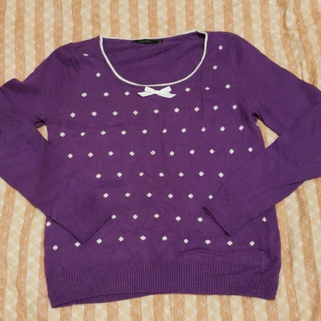紫色點點上衣