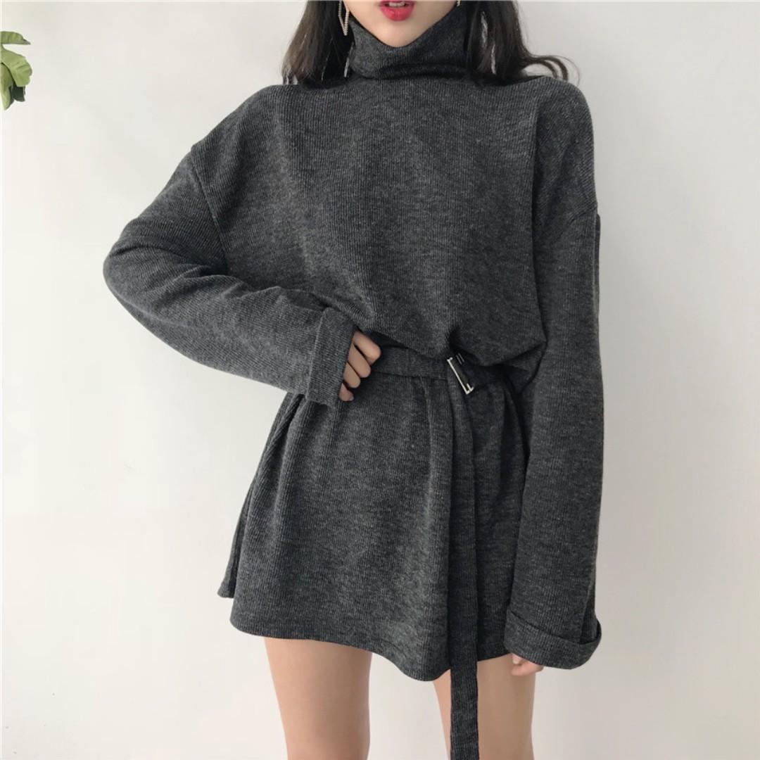 (💫)韓版收腰氣質連衣裙