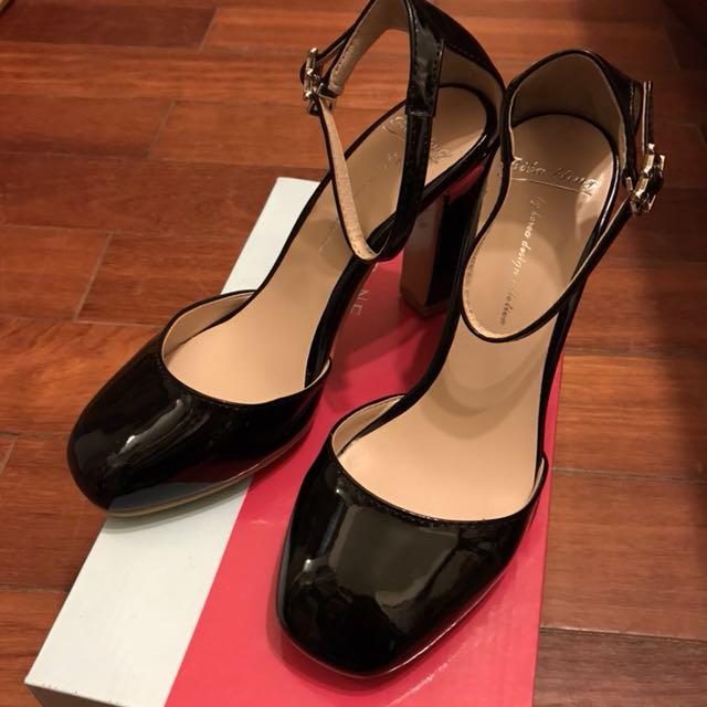 全新-韓國方頭瑪莉珍繫帶鞋