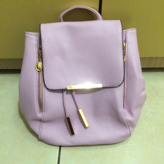韓風薰衣草紫後背包