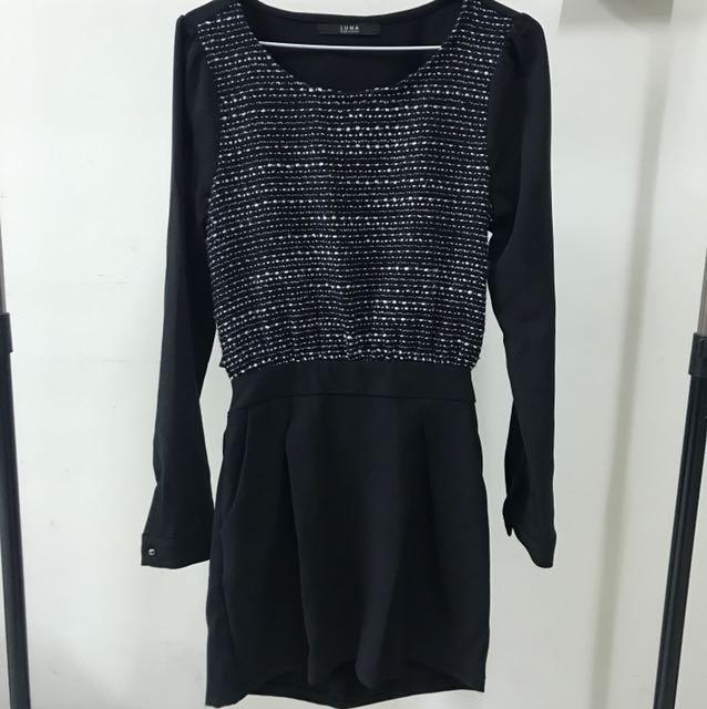 韓風🇰🇷幾何圖案花苞裙洋裝 兩種穿搭