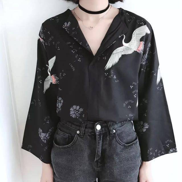 出清橫須賀/和式鶴 九分袖上衣