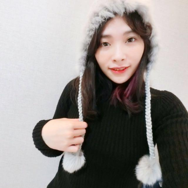 韓國帶回來 毛帽 毛球 有內襯