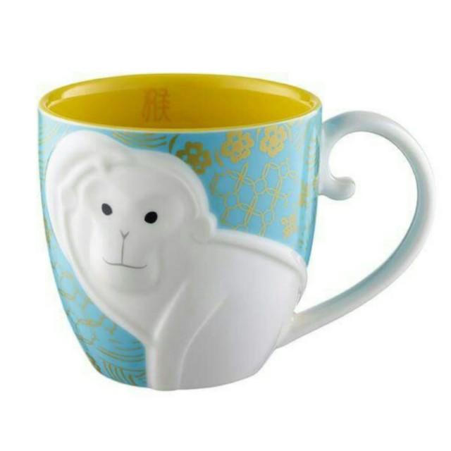 徵 星巴克 猴年 藍色 馬克杯 (藍猴杯)