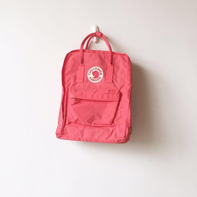 全新 Fjallraven Kanken Classic Peach Pink 桃紅 小狐貍 後背包