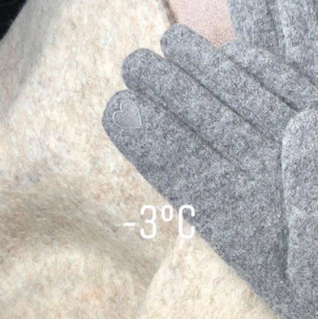 (限時代購) 小安ig款私物手套 灰色