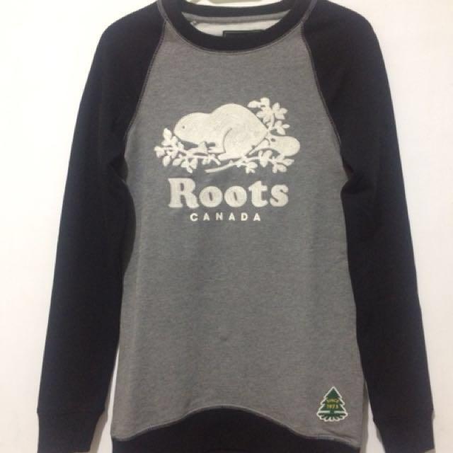全新 刺繡Roots 女xs刷毛上衣
