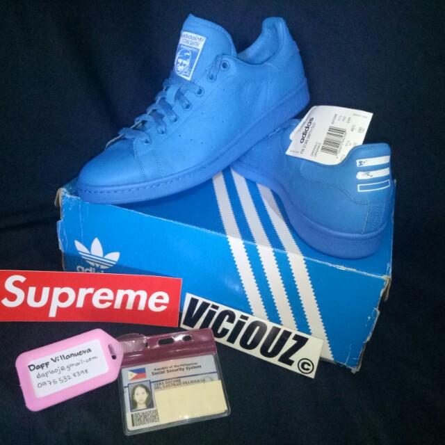 👟#Adidas pharrell williams stan smith blue