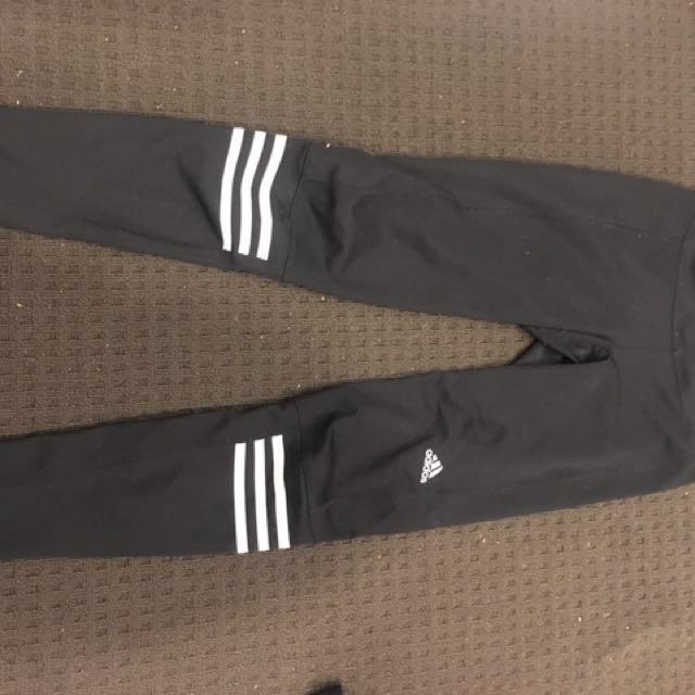 Adidas three strip leggings