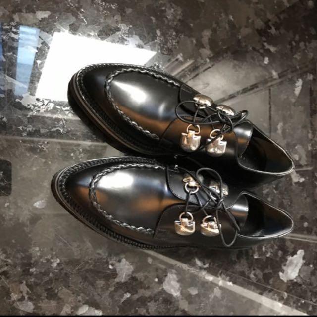 Alexander McQueen 厚底 牛津 皮鞋