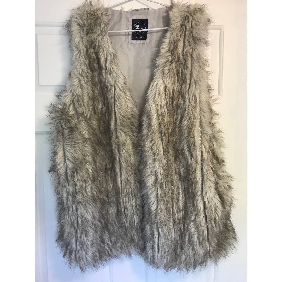 All About Eva Faux Fur Vest