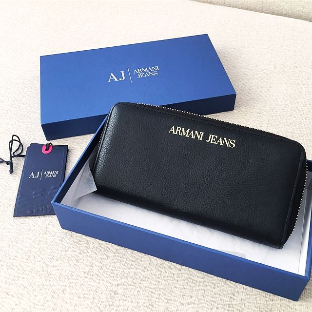 AUTHENTIC ARMANI JEANS Long Zipped Wallet Purse