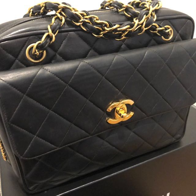 Authentic Vintage Chanel Camera Flap Classic Bag