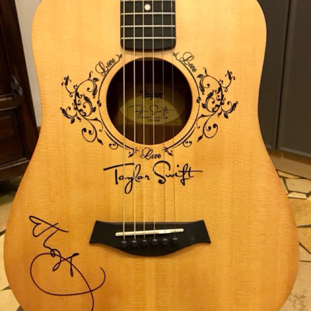 Baby Taylor Guitar W Taylor Swift Autograph Music Media Music Instruments On Carousell