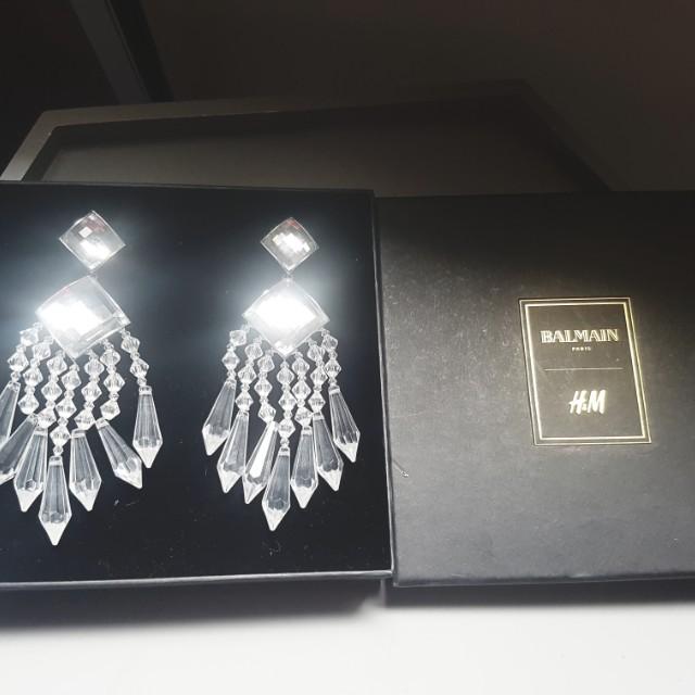 Balmain x H&M Crystal Earrings