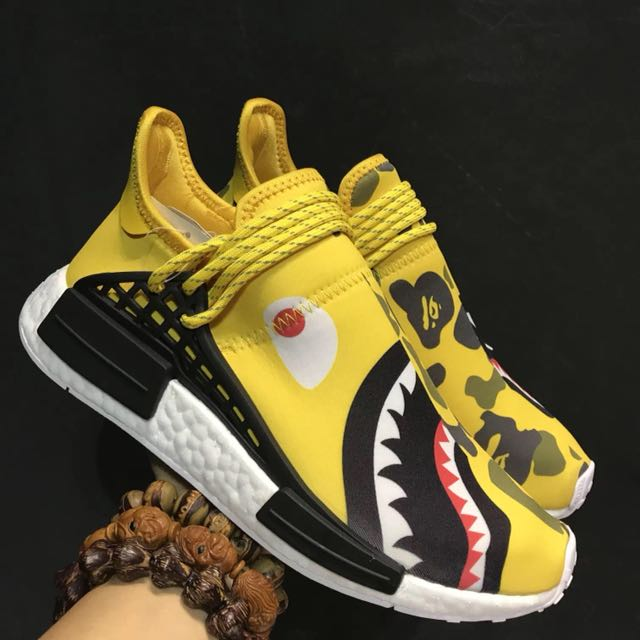 007e40f3315e BAPE x Pharrell Williams  Human Race  x Adidas NMD Human Race Yellow ...