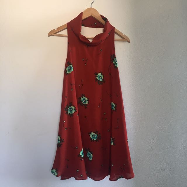 Beautiful red floral dress