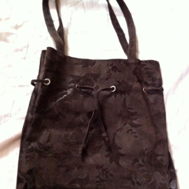 BENETTON suede leather bag