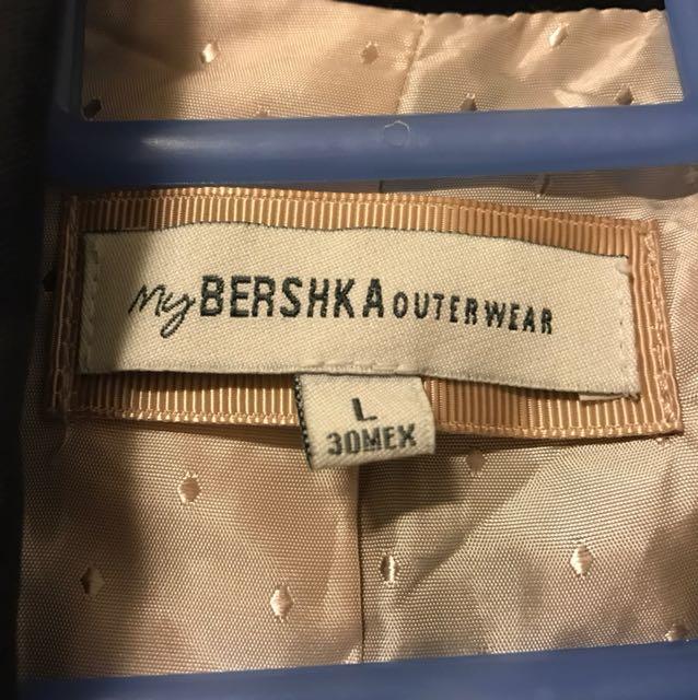 Bershka Padded Black Blazer