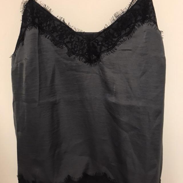 Black Lace Tanktop Size M