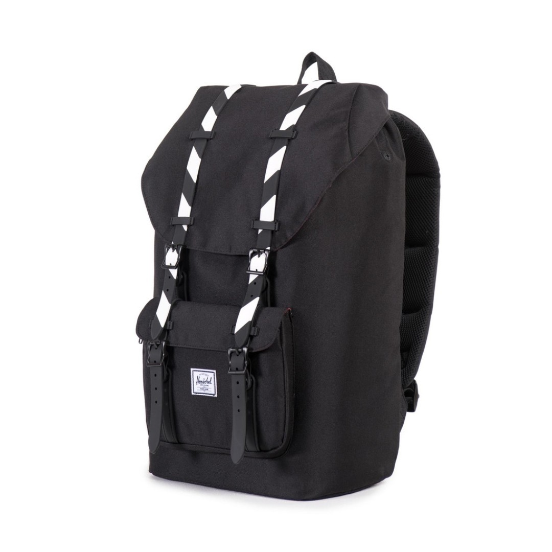 66a7af353b1 Black Stripe Rubber Herschel Little America   The Little America Mid ...