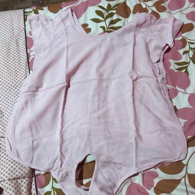 Blouse Bershka Dusty Pink