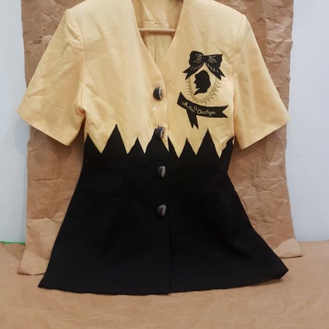 Blouse Black n Yellow pattern