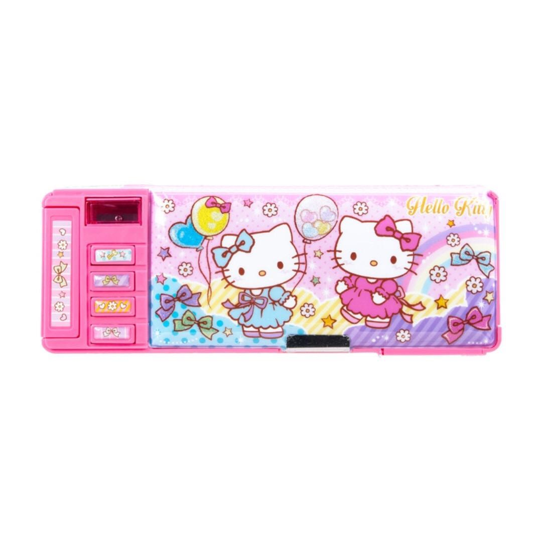 (BNIS) Hello Kitty Functional 2 Sides Opening Pencil Case
