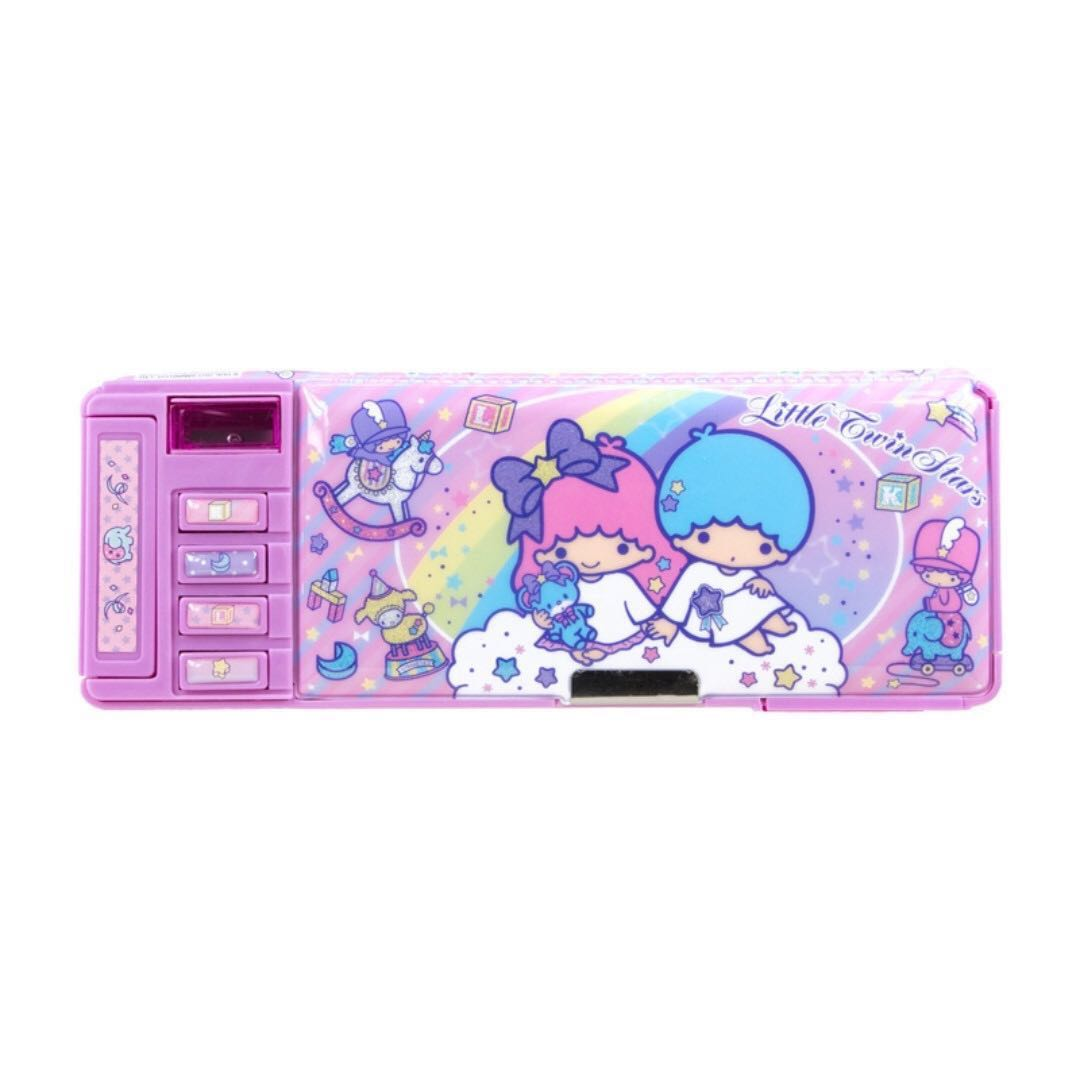 (BNIS) Little Twin Stars Functional 2 Sides Opening Pencil Case
