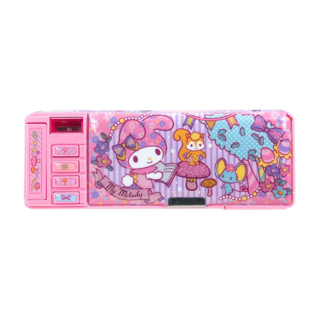 (BNIS) My Melody Functional 2 Sides Opening Pencil Case