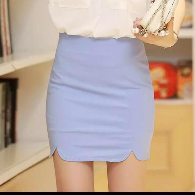 [BNWT] Water blue High Waist Skirt
