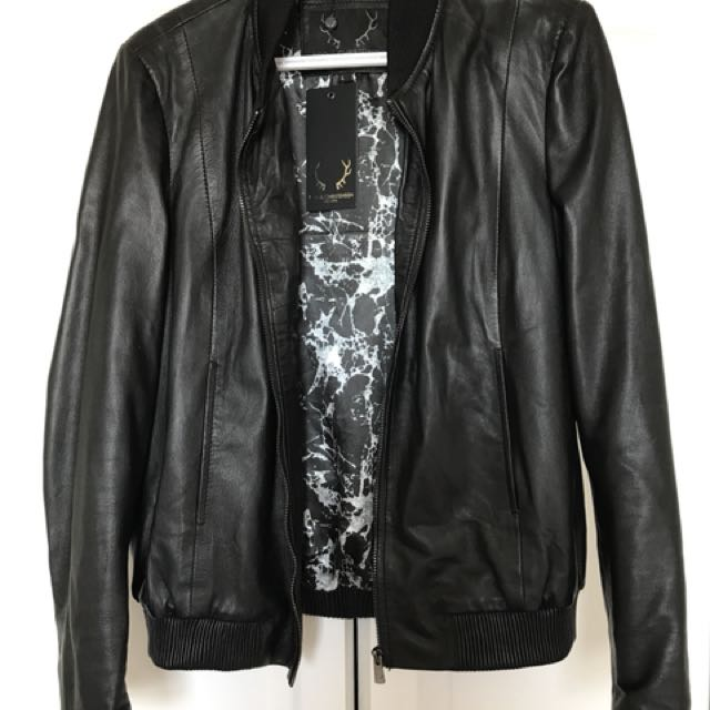 Bod & Christensen Leather Jacket Size L