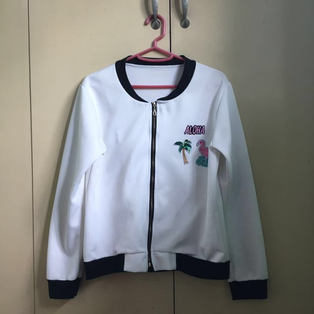 Bomber Jacket with Patches (Freesize)
