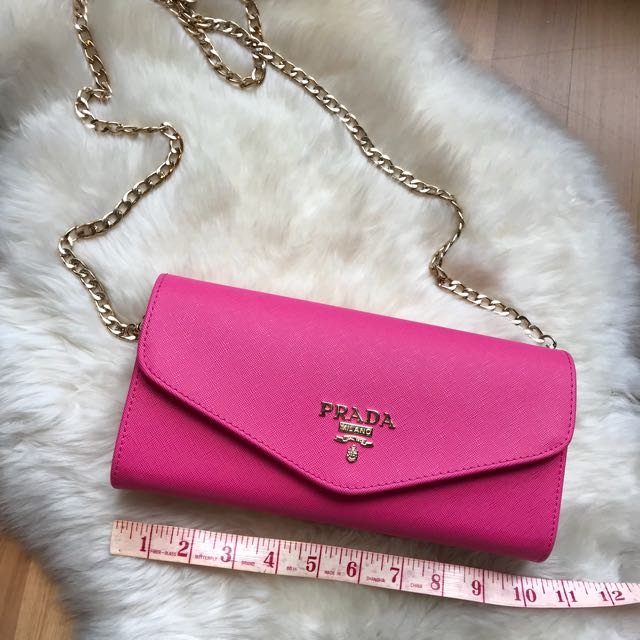 Brand New Fuschia Pink Prada Clutch 1:1
