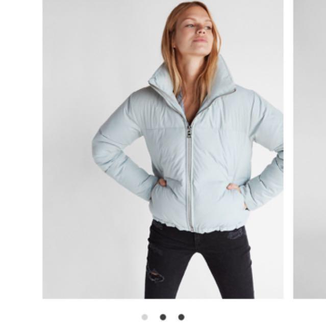 Brand New Light Blue Puffer Jacket