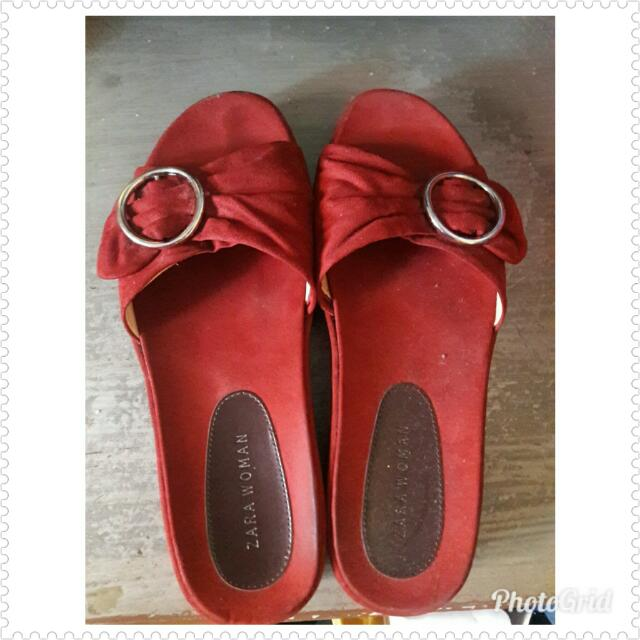 BRANDED ZARA Woman Red Sandals