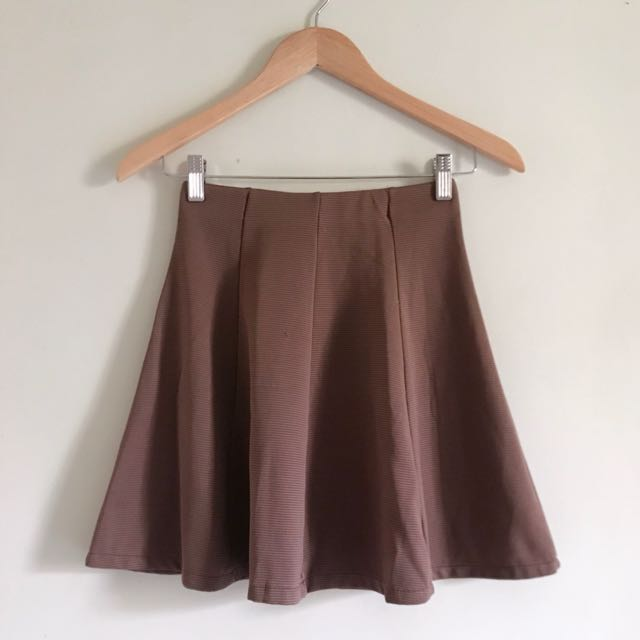 Brown Mini Skirts