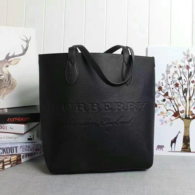 3d0f0e780fc9 Burberry Medium Embossed Leather Tote