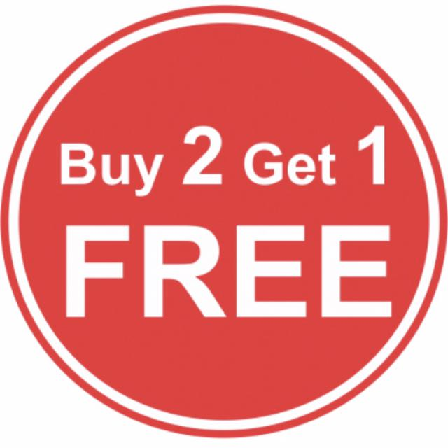 Buy two get the third for equal or lesser value free