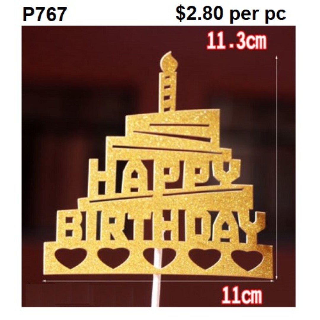 Cake Pick Happy Birthday Tower P767 Home Appliances On Carousell